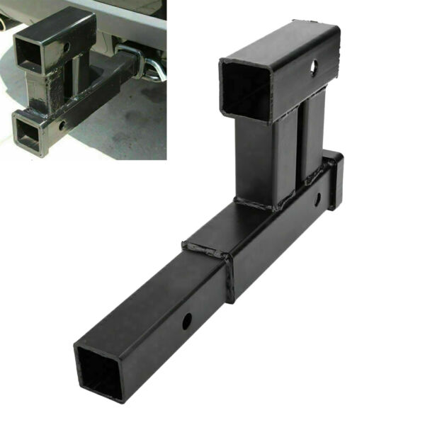 Truck Dual 2quot; Trailer Hitch Receiver Rise Drop Adapter Extender Tow 4000LB $30.99