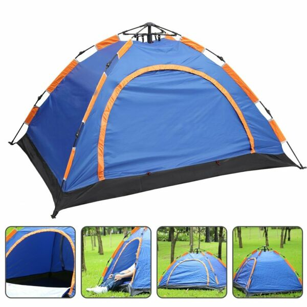 2 4 Person Waterproof Outdoor Camping Automatic Pop Up Tent Camouflage Hiking $32.07