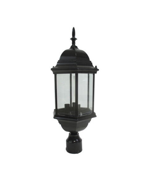 Black Cast Aluminum Exterior Post Top 9.5quot; X 23.5quot;