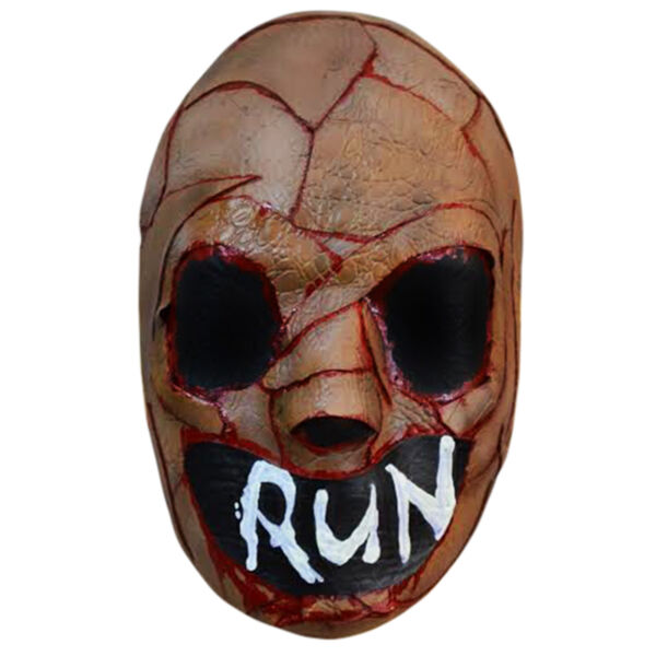 Adult The Purge TV Bloody Skin RUN Horror Halloween Costume Scary Face Mask