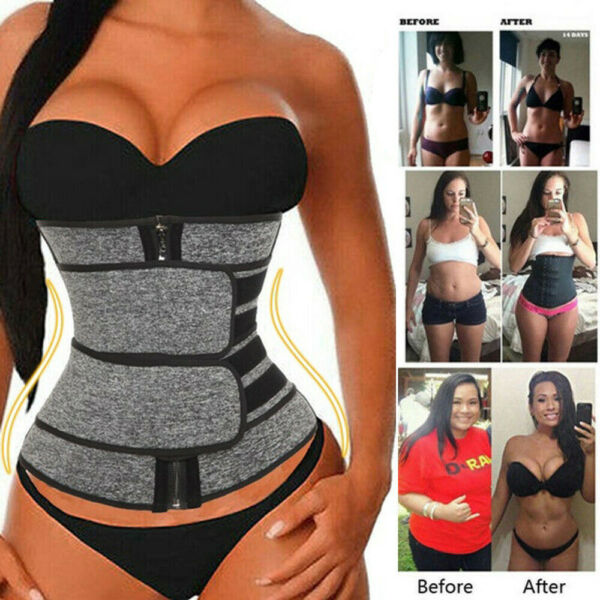 Women#x27;s Waist Corset Trainer Sauna Sweat Weight Loss Body Shaper Yoga Sport Belt