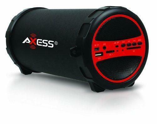 Portable Wireless Bluetooth Loud Speaker Bass Subwoofer Rechargeable Red Black $35.29