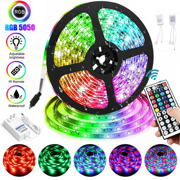 1 10m LED Flexible Strip Light RGB Fairy Lights Color Changing Room TV Party Bar