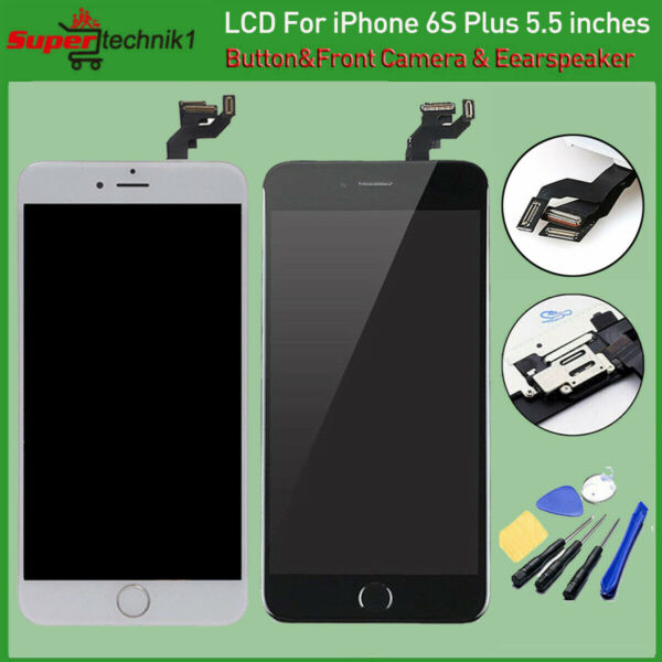 LCD For iPhone6S Plus A1687 A1634 3D Touch Screen Digitizer ReplacementButton