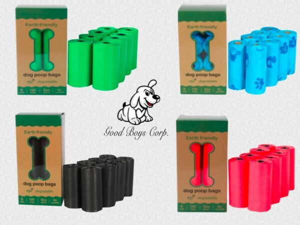 Dog Poop Bags 100% Biodegradable Heavy Duty Eco Friendly Variety of Colors. $6.75
