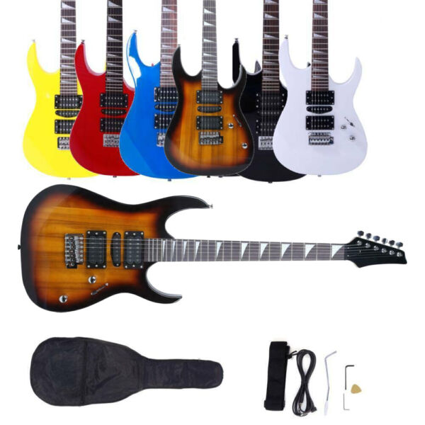 New 6 Colors Basswood School Band Student Right Handed Electric Guitar Set $67.59