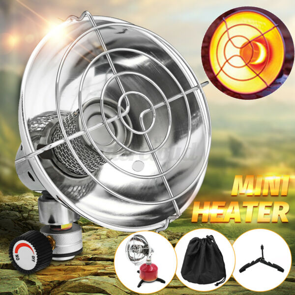 Outdoor Mini Portable Space Heater Gas Heating Stove Camping Fishing Tent Warmer $28.09