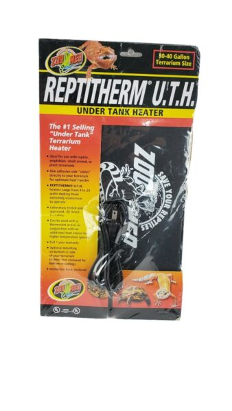 Zoo Med ReptiTherm Under Tank Heater for Reptiles 30 40 gallon 8x12 inches NEW $23.99