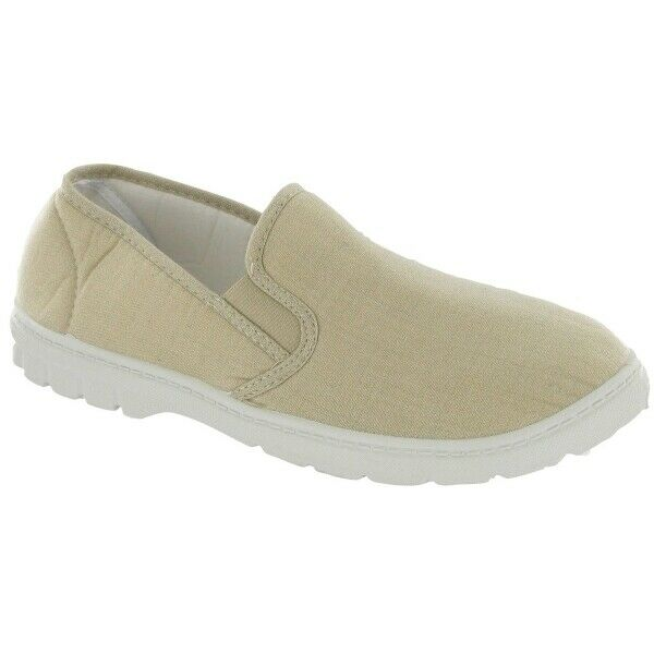 Mirak TOMMY Mens Casual Everyday Lightweight Canvas Easy Slip On Shoes Beige $48.00