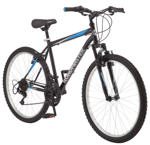 Roadmaster Granite Peak Men#x27;s Mountain Bike 26 inch Wheels Black Blue New $154.95