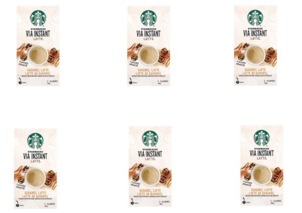 STARBUCKS VIA INSTANT CARAMEL LATTE SPECIALTY COFFEE PACKETS 30 PACK