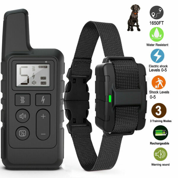 Electric for 1 2 3 Dogs Training Collar Remote Dog Waterproof 2600FT Pet Shock $38.99