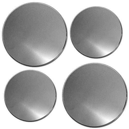 Reston Lloyd Electric Stove Burner Covers Set of 4 Stainless Steel Look