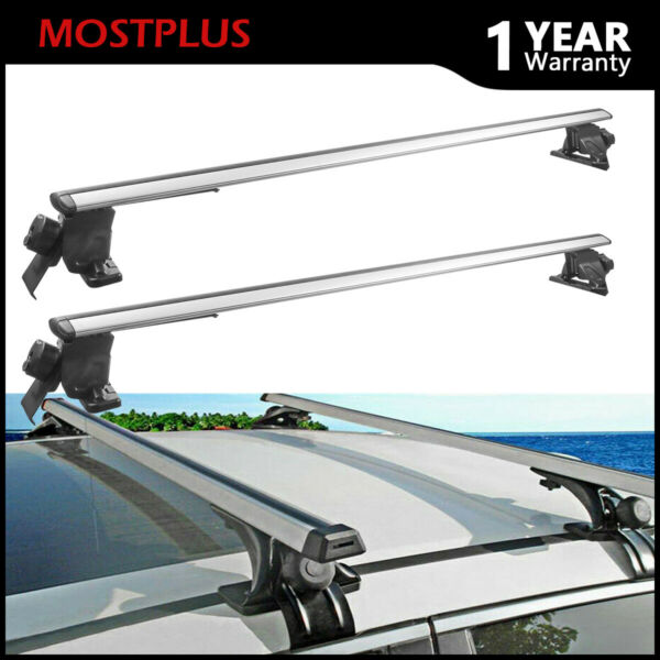 52quot; Universal Top Cargo Carrier Cross Bar Roof Rack For Car SUV w Raised Rails $89.99