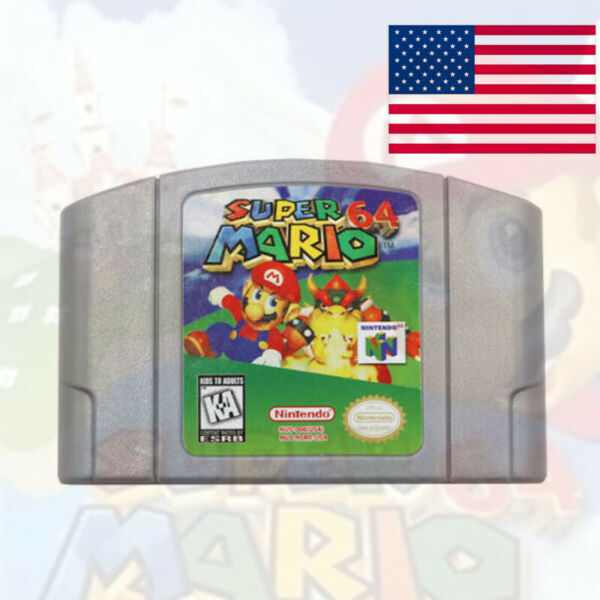 Super Mario 64 Video Game Cartridge Console Card US Version For Nintendo 64 N64 $21.59