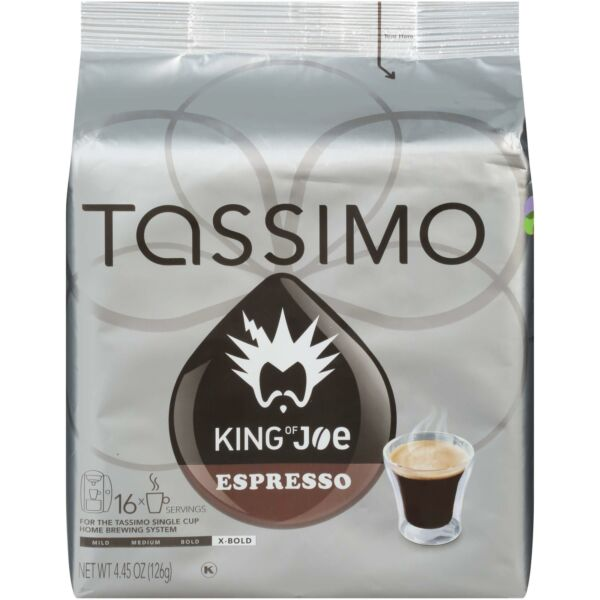 King of Joe Espresso T Disc for Tassimo Brewing System 16 Count