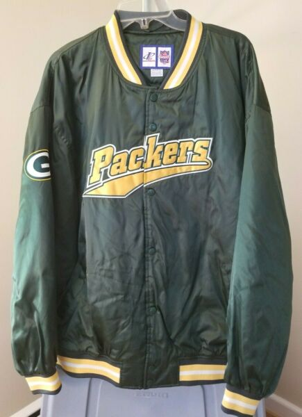 Green Bay Packers NFL Logo 7 Vintage Green PACKERS Extra Large Jacket