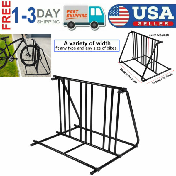 Bike Parking Rack Stand Bicycle Storage Floor Mount Iron Pipe Cycle Holder USA $60.37