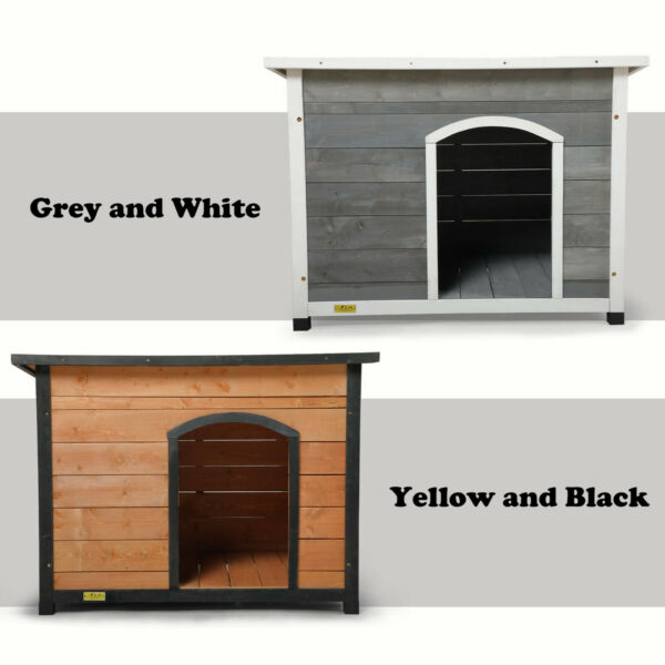 Wood Dog Houses for Medium Large Dogs Weatherproof Outside Dog Kennel with Door $131.99