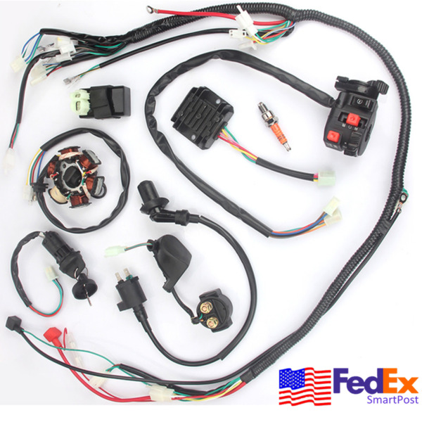 Electric Wiring Harness Kit Magneto Stator CDI for GY6 125cc 150cc ATV Go Kart
