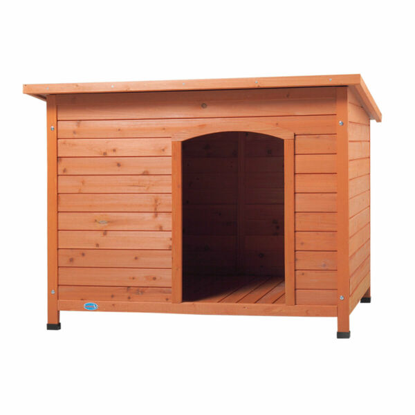 Outdoor Wood Dog Pet House Shelter Kennel Slant Roofed with Open Entrance $129.99