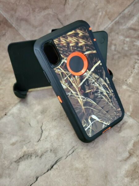 For iPhone XR Case clip camo Cover Belt Clip Fits Otterbox Series $11.99