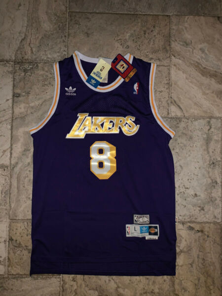 #8 Kobe Bryant Los Angeles L.A. Lakers Men#x27;s Vintage Throwback Sewn Jersey