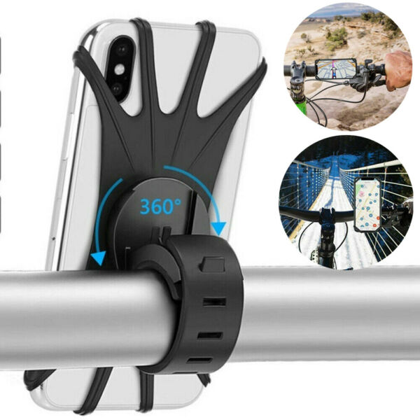 Cell Phone Silicone Mount Holder GPS Motorcycle MTB Bike Bicycle 360 Rotation US $5.97
