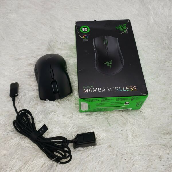 Razer Mamba RZ01 02710100 R Wireless Optical Gaming Mouse No Dongle TESTED