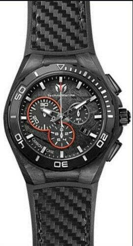 New TechnoMarine Men's Cruise Steel Evolution Carbon Watch #113001 With Tags $475.00