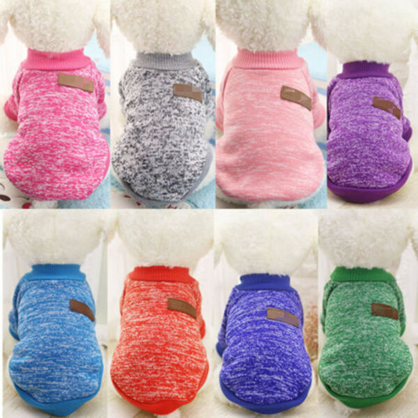 Warm Clothes for Pet SWEATER Chihuahua Yorkie Small Dog Coat Jacket Fleece Soft $7.59