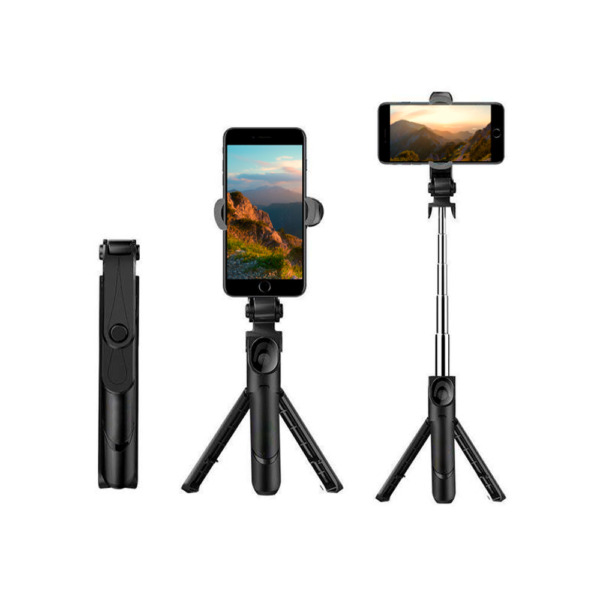 XT 09 Selfie Stick Tripod Holder Bluetooth Remote Travel Size Iphone holder