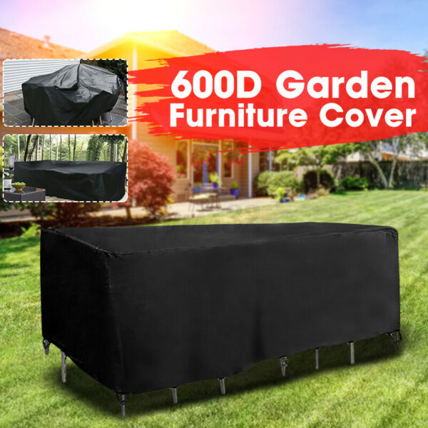 Outdoor Cover Garden Furniture Waterproof Patio Rattan Table Chair 242x182x100cm $57.32
