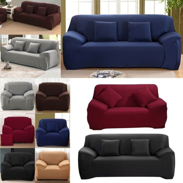 1 2 3 4 Seaters Stretch Sofa Covers Sectional Couch Cover Slipcover Protector $22.99