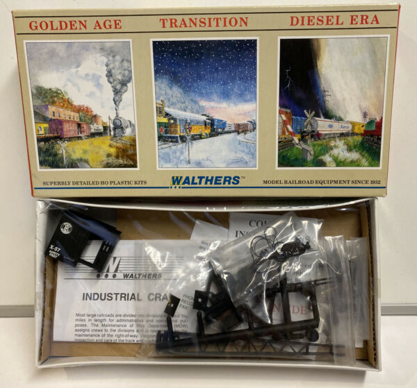 Walthers HO Scale BrownHoist 25 Ton Industrial Crane Car Kit #X 57 $15.99