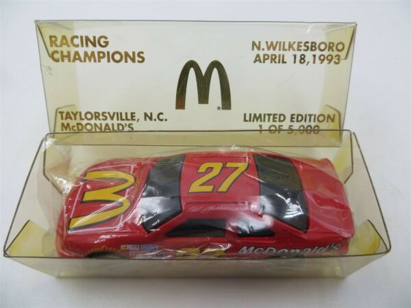 Racing Champions 1:64 Die Cast #27 McDonald#x27;s N. Wilksboro April 18 1993 LE