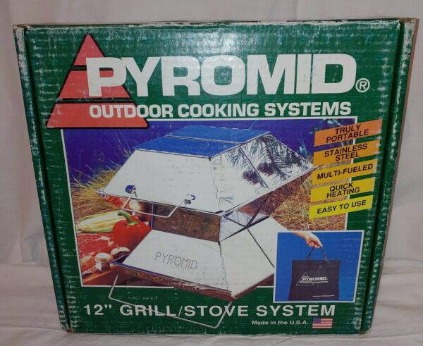 PYROMID Outdoor Cooking System 12quot; Grill Stove Accessory AIM Camping RARE in Box