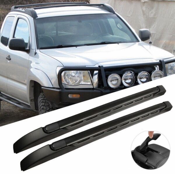 Top Roof Rack Cross Side Rails Bars Set For 2005 2019 Toyota Tacoma Double Cab $107.99