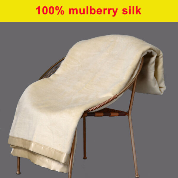 100% Mulberry Silk Bed Blanket Sofa Throws Single Queen Size Sisters Silk
