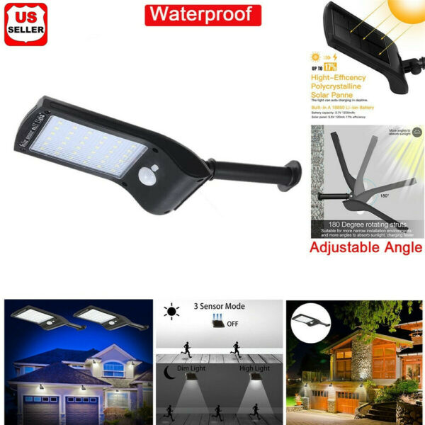 36 LED Solar Lights PIR Motion Sensor Waterproof Outdoor Garden Yard Wall Lamp $11.98