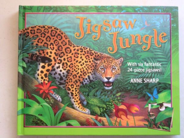 Jigsaw Jungle with 6 puzzles by Anne Sharp 2005 Macmillan Children#x27;s Books $10.50