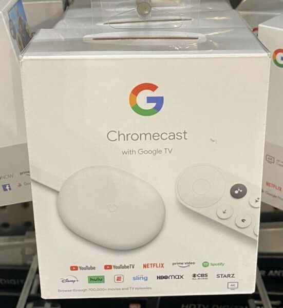 Google Chromecast with Google TV 2020 Streaming Entertainment in 4K HDR Snow
