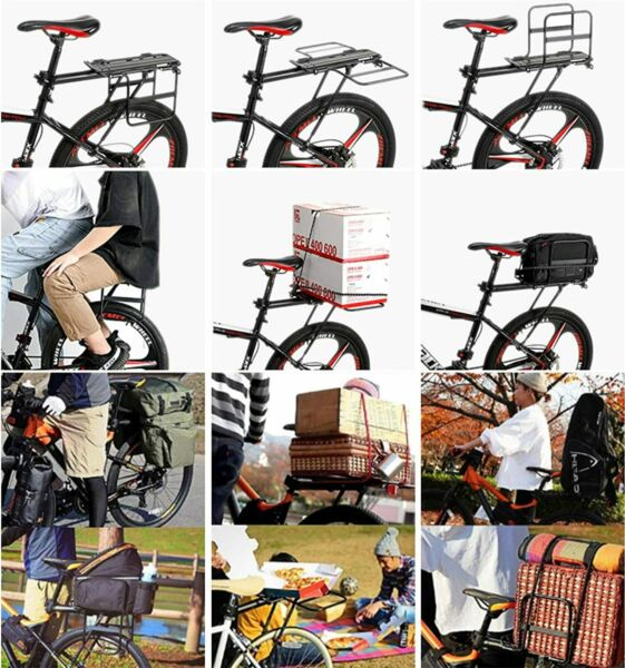 Aluminum Bike Rear Rack Seat Luggage Carrier Bicycle Post Mountain Mount Pannier $32.59