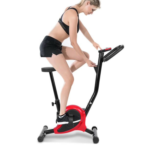 Exercise Bike Fitness Gym Indoor Cycling Stationary Bicycle Cardio Workout w LCD $86.79