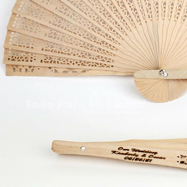 Personalized Wedding Wood Fans Favor Engraved Recuerdos Avanicos Grabados Quince $101.99