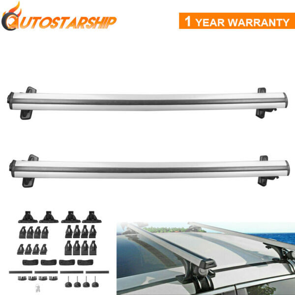 Pair Universal 48quot; Car Roof Rack Cross Bar Luggage Carrier with 3 Clamp Legs New $63.88