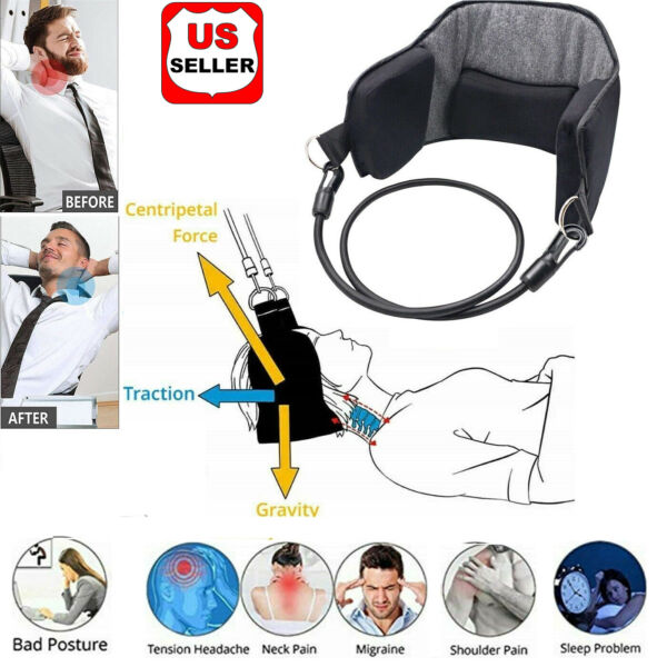 Hammock for Neck Pain Relief Support Massager Cervical Traction Device Stretcher $9.98