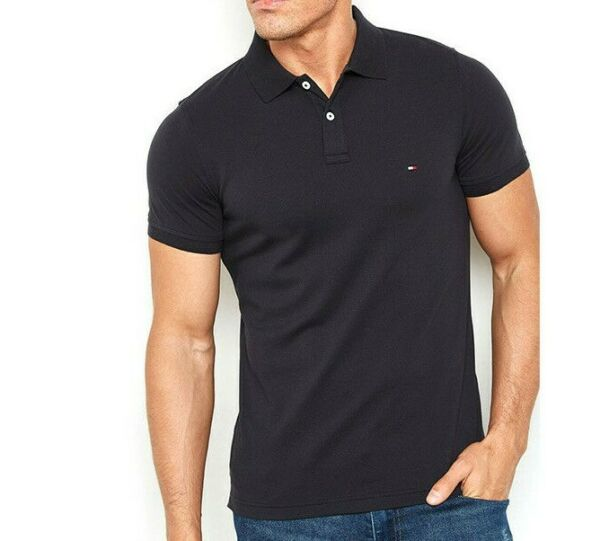 NWT Men#x27;s Tommy Hilfiger Short Sleeve Classic Fit Mesh Polo Shirt Size S 3XL $30.00