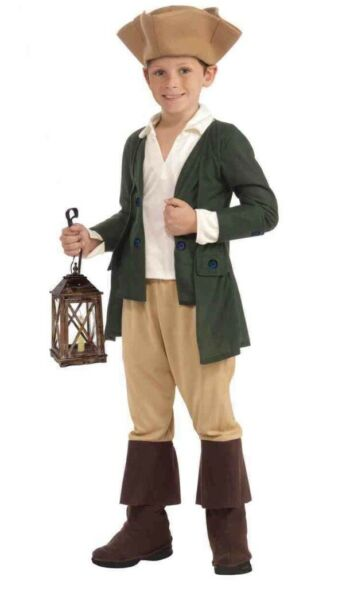 Colonial Paul Revere Child Costume Large