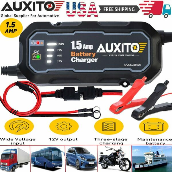 HOT Smart Car Battery Charger Maintainer for 12V AGM GEL WET Battery Vehicles US $24.99